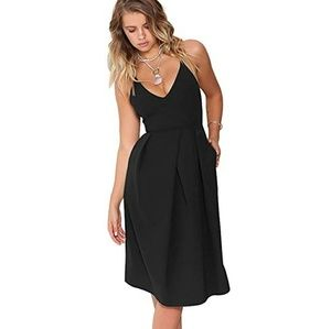 "🆕⭐ ""The Carrie dress"" in black strappy pocket"